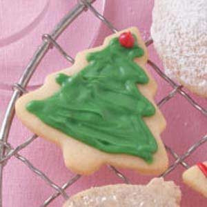 Christmas Cutouts with White Chocolate Glaze