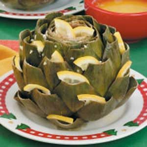 Lemon-Studded Artichokes