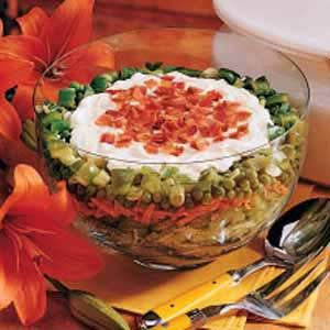 Glass Bowl Salad Recipe
