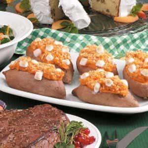Twice-Baked Sweet Potatoes with Pineapple and Walnuts Recipe
