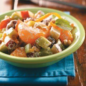 Caramel Mixed Fruit Salad Recipe