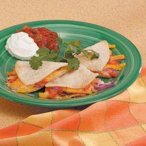 Cheesy Pepper Quesadillas Recipe
