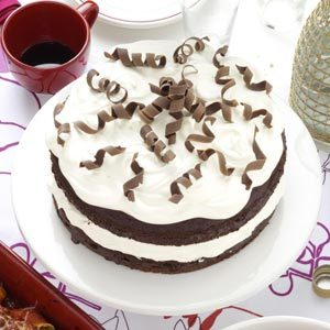Almond Chocolate Torte with Chocolate Curls