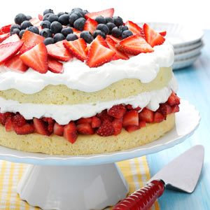 Layered Strawberry Cream Cake Recipe