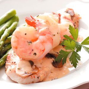 Sole with Shrimp Sauce