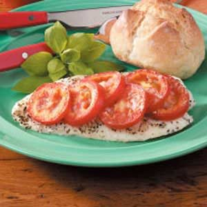 Tomato-Basil Baked Fish Recipe
