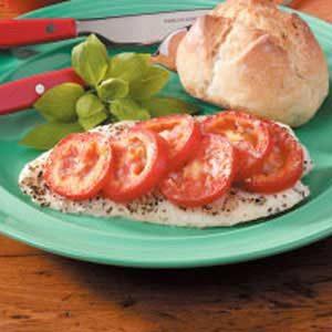 Tomato-Basil Baked Fish Recipe