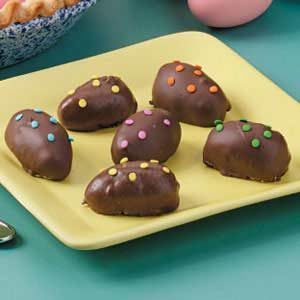 Peanut Butter and Marshmallow Chocolate Eggs