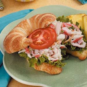 Crab Salad on Croissants Recipe