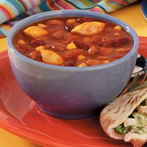 30-Minute Three-Bean Chili Recipe