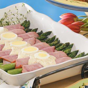 Asparagus Dijon Ham Rolls Recipe