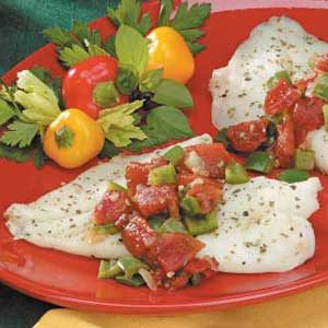 Herbed Tomato Fish Bake Recipe