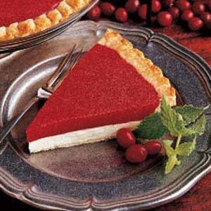 Fluffy Cranberry Cheese Pie Recipe
