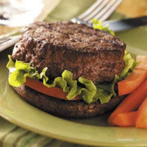 Stuffed Burgers on Portobellos
