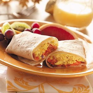 Smoked Salmon and Egg Wraps