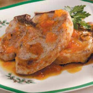 Tangy Apricot Pork Chops Recipe