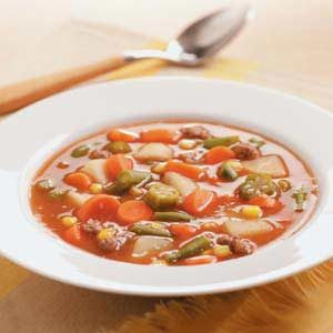 Vegetable Ground Beef Soup