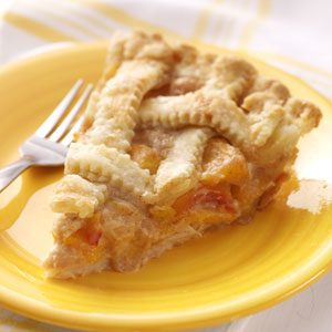 Peaches 'n' Cream Lattice Pie Recipe