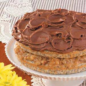 Nutty Poppy Seed Torte with Creamy Mocha Frosting Recipe