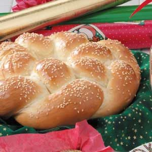 Braided Sesame Wreath Recipe