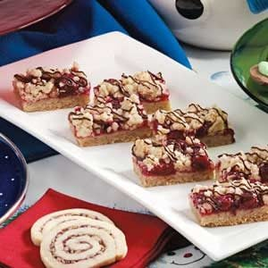 Chocolate-Drizzled Cherry Bars Recipe