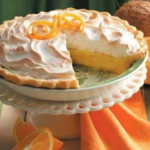 Orange Coconut Meringue Pie Recipe