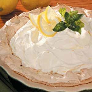 Lemon Pie in Meringue Shell