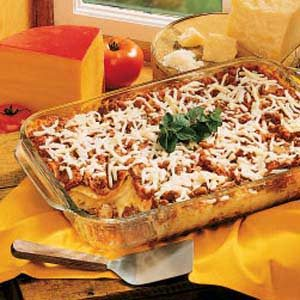 Four-Cheese Lasagna Recipe photo by Taste of Home