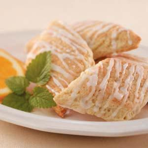 Coconut-Glazed Orange Scones Recipe photo by Taste of Home