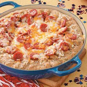 Deep Dish Pepperoni Pizza Recipe