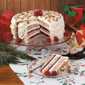 Walnut Raspberry Torte Recipe