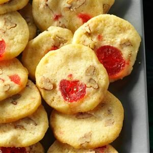 Cherry-Pecan Icebox Cookies Recipe