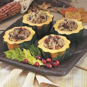 Wild Rice Stuffed Squash Recipe