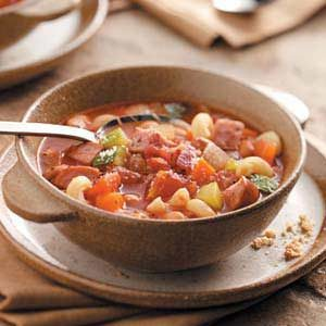 Simple Sausage Minestrone