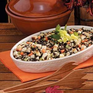Wild Rice 'n' Bread Dressing Recipe