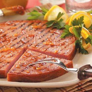 Orange Barbecued Ham Recipe