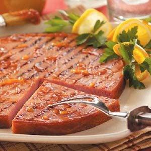 Orange Barbecued Ham Recipe