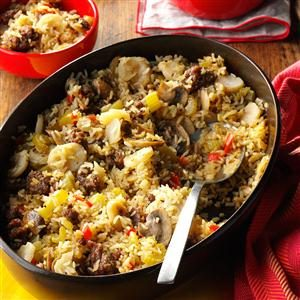 Sausage and Rice Casserole Side Dish Recipe