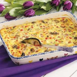 Ham 'n' Cheese Egg Bake Recipe