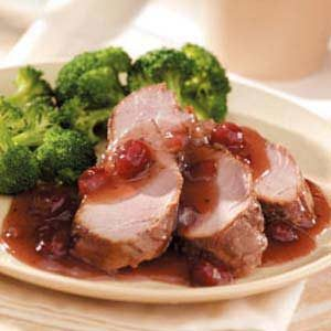 Cranberry Pork Tenderloin Recipe