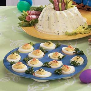 Three-Cheese Deviled Eggs Recipe