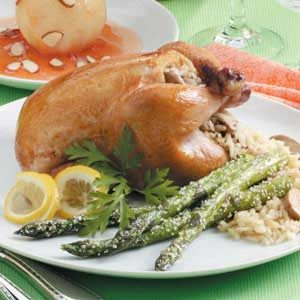 Rice-Stuffed Cornish Hens Recipe