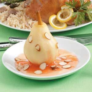 Poached Pears in Almond Sauce
