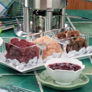 Marinated Tenderloin Fondue