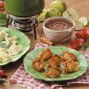 Apple Wonton Bundles Recipe