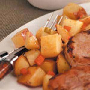 Seasoned Potato Cubes Recipe