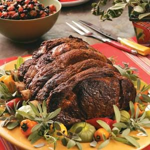 Southwest Rib Roast with Salsa Recipe