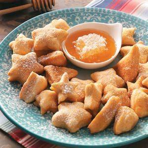 Sopaipilla Stars Recipe photo by Taste of Home