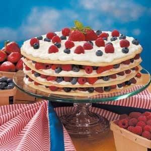 Berries 'n' Cream Torte Recipe