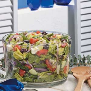 Greek Lettuce Salad Recipe